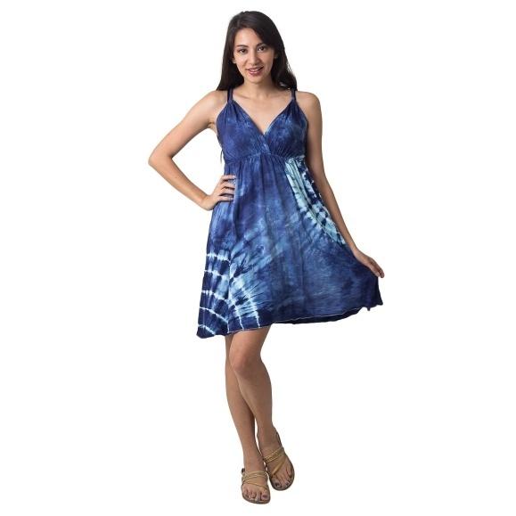 Krátké šaty a tuniky  ŠATY BIBIANA MODRÉ 39ddcb3d32